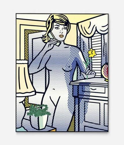 Roy Lichtenstein-Nude with Yellow Flower-1994