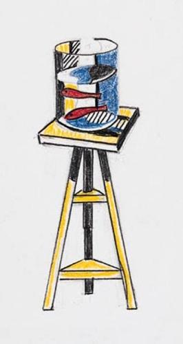 Roy Lichtenstein-Sketch for Goldfish Bowl-1977