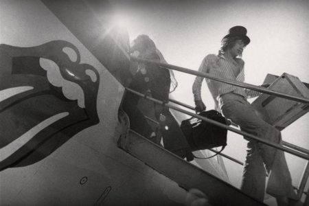 Annie Leibovitz-Mick Jagger Disembarking From Plane-1972
