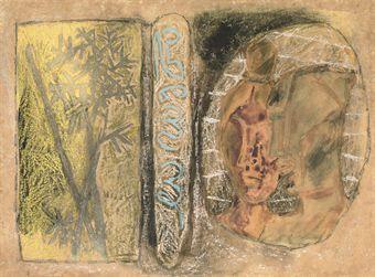 Maqbool Fida Husain-Untitled (Sealed Kingdom)-1968