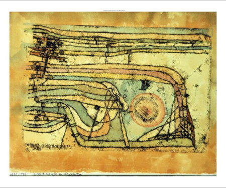 Paul Klee-Landschaft Im Pankenton (Landscaft In Pankenton)-1920