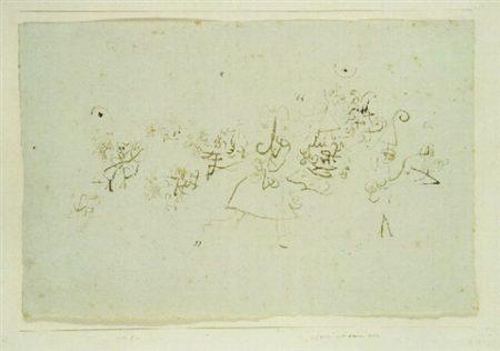 Paul Klee-Grosser Mit Kleinem Volk-1932