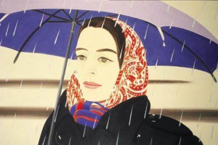 Alex Katz-Blue Umbrella #2-1972