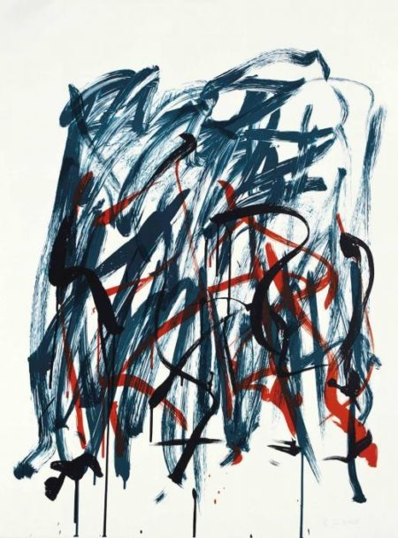 Joan Mitchell-Brush, State I, from Bedford series-1981