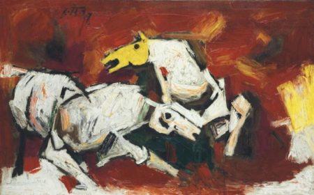 Maqbool Fida Husain-Wild Horses-