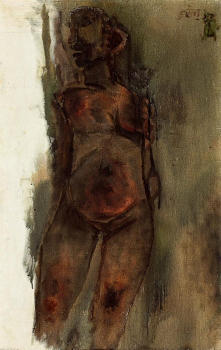 Maqbool Fida Husain-Bronzed Nude-1961