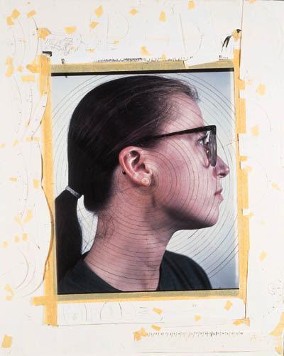 Chuck Close-Cindy II (Study)-1988