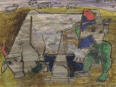 Maqbool Fida Husain-Farmer-1953