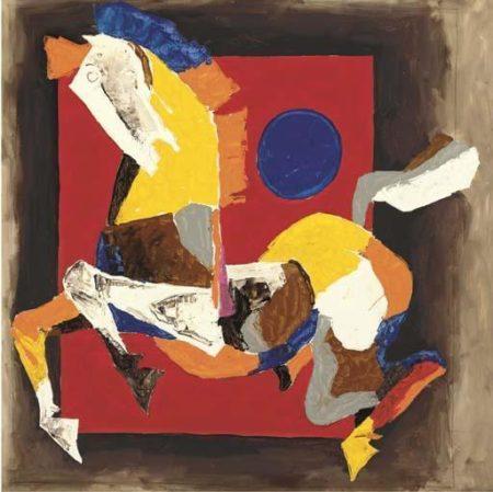 Maqbool Fida Husain-Horse-1981