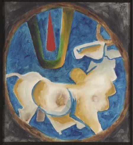 Maqbool Fida Husain-Bull-1968