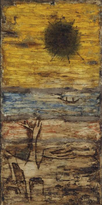 Maqbool Fida Husain-Wasteland-1963