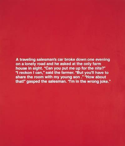 Richard Prince-A Travelling Salesman...Wrong Joke-1987
