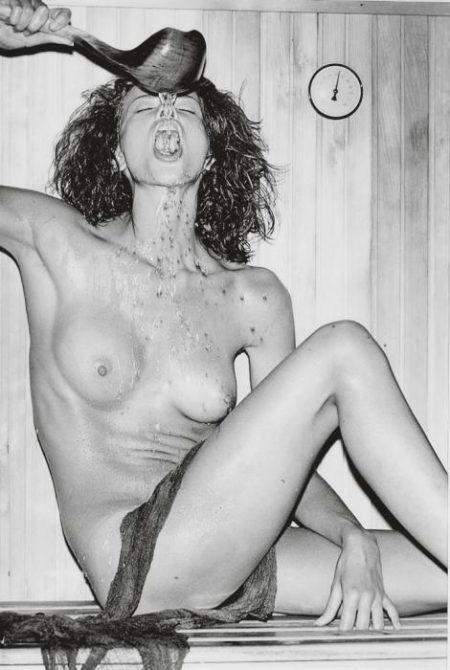 Helmut Newton-Nude in Sauna-1975