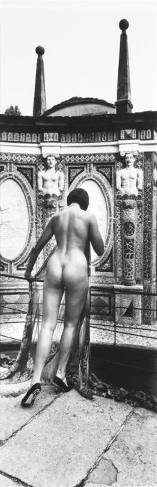 Helmut Newton-Panoramic Nude, Backview, Villa d'Este, Como, Italy-1989