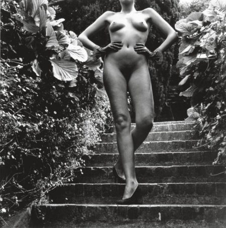 Helmut Newton-Nude Descending Staircase, Nice-1981