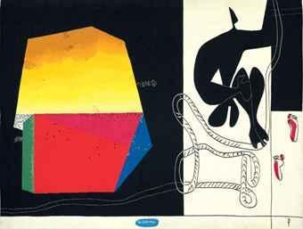 Le Corbusier-Traces de pas dans la nuit-1957