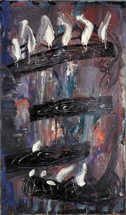 Anselm Kiefer-Die Drei Normen: Urd, Werdandi, Skuld (The Three Fates: Urd, Werdandi, Skuld)-1979