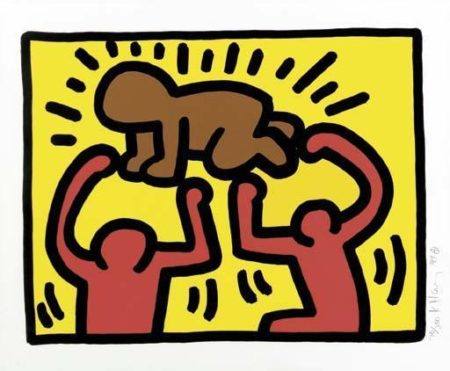Keith Haring-Keith Haring - Untitled, from Pop Shop IV-1989