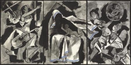 Maqbool Fida Husain-Mother Teresa-1997