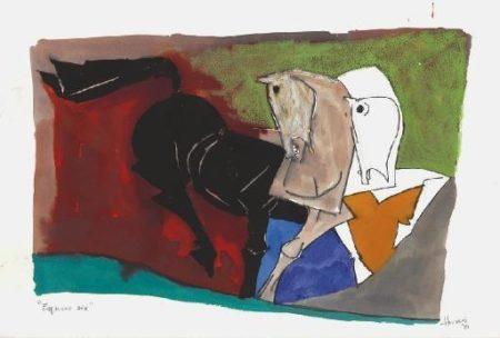 Maqbool Fida Husain-Equus Six-1981