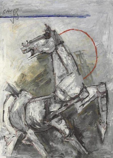 Maqbool Fida Husain-Untitled (Horse)-
