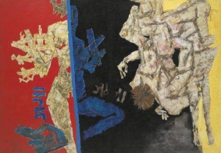 Maqbool Fida Husain-Battle of Ganga and Jamuna: Mahabharata 12-1972