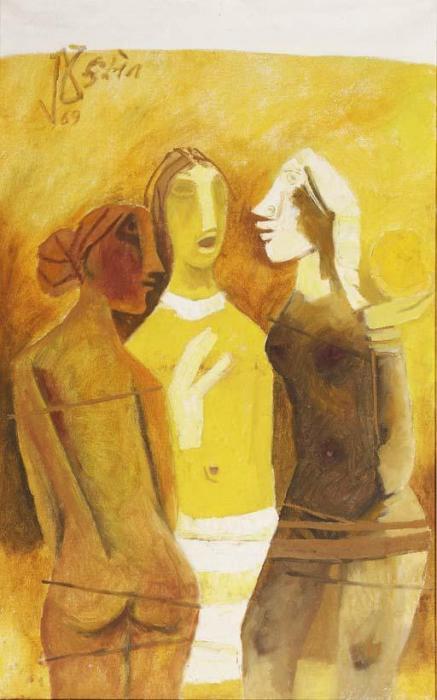 Maqbool Fida Husain-Three Women-1969