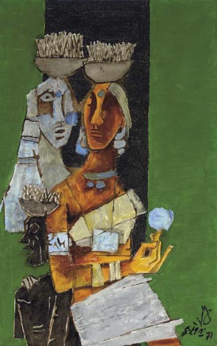Maqbool Fida Husain-Harvest-1971