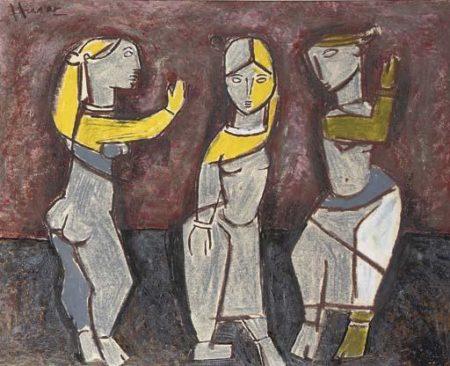 Maqbool Fida Husain-Dancing girls-