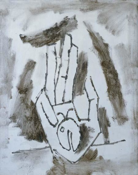 Maqbool Fida Husain-Untitled (Hand)-