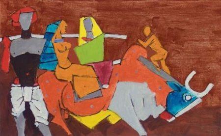 Maqbool Fida Husain-Farmer-