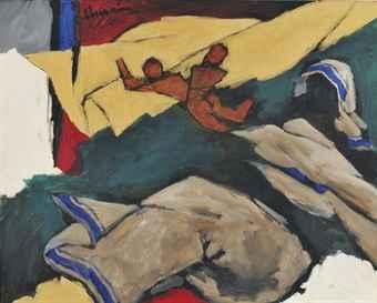 Maqbool Fida Husain-Untitled (Mother Teresa)-