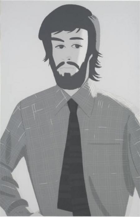 Alex Katz-Plaid Shirt 2 / Grey Shirt (Maravell 128)-1981