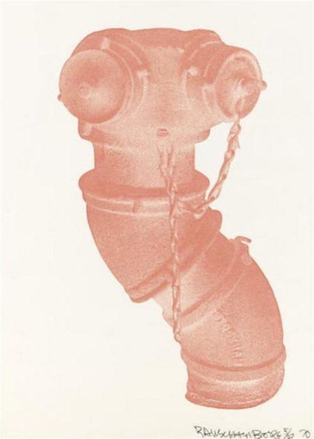 Robert Rauschenberg-Robert Rauschenberg - Unit (Hydrant)/ Cunningham Relief (From Merce Cunningham)/ White Pendulum-1970