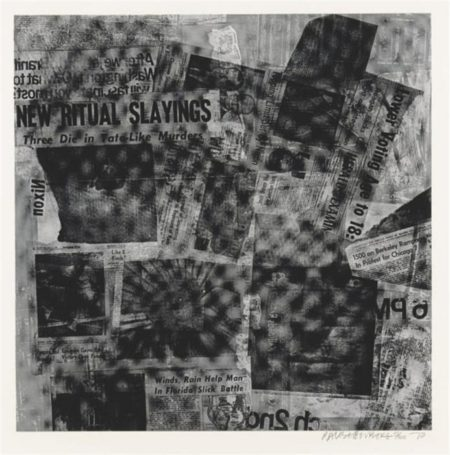 Robert Rauschenberg - Surface Series # 49 (From Currents) (F.120)-1970