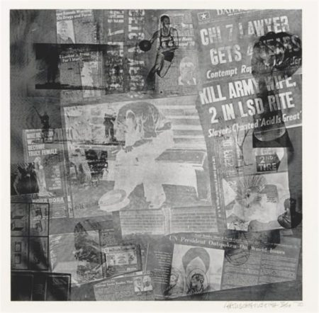Robert Rauschenberg-Robert Rauschenberg - Surface Series (From Currents) (F. 125)-1970