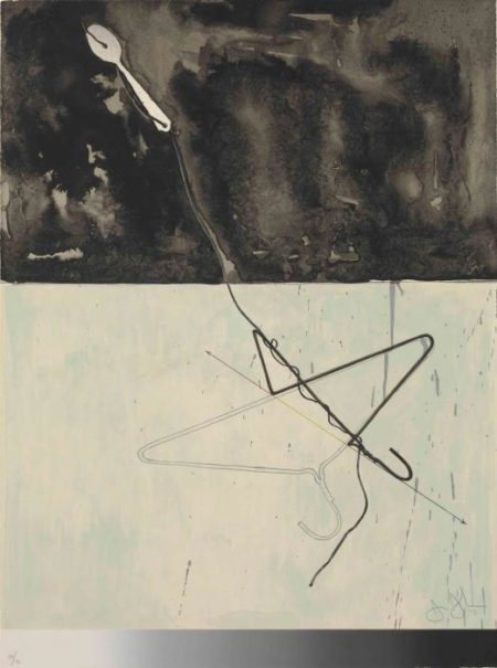 Jasper Johns-Coat Hanger and Spoon, from Fragment- According to What (Universal Limited Art Editions 96)-1971