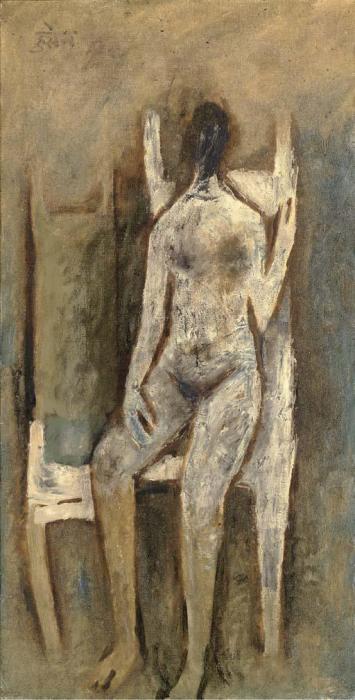 Maqbool Fida Husain-Nude-1961