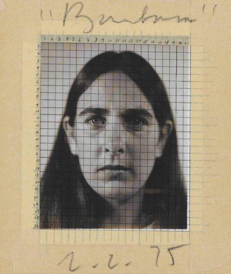 Chuck Close-Study for Barbara-1975