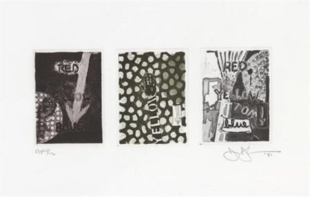 Jasper Johns-Untitled (ULAE 217)-1981