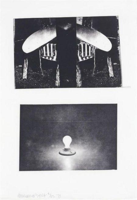 Robert Rauschenberg-Robert Rauschenberg - Glacial Decoy Series: Etching IV-1979
