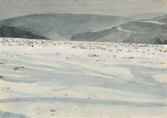 Anselm Kiefer-Landschaft bei Buchen-1971