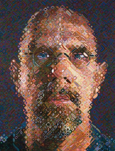 Chuck Close-Self-portrait-2007
