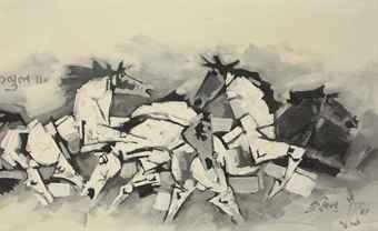 Maqbool Fida Husain-Horses-1969