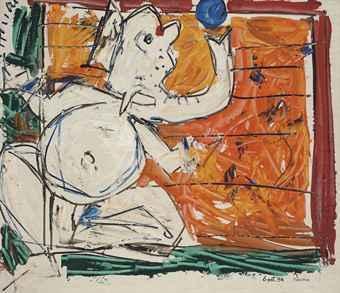 Maqbool Fida Husain-Ganesh-1984