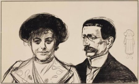 Edvard Munch-Anna und Walter Leistikow / Anna og Walter Leistikow / Dobbeltportraet / Double portrait of Mr and Mrs Leistikow (Sch. 170; W. 196)-1902