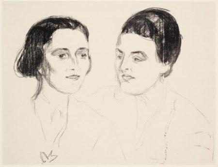 Edvard Munch-Louise und Else Heyerdahl (Sch. 474; W. 641)-1920