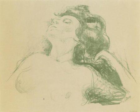 Edvard Munch-Liegender Halbakt II / Reclining Nude II / (Sch. 501; W. 658)-1920