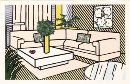 Roy Lichtenstein-The Yellow Vase, from Interior Series-1990