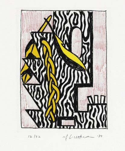 Roy Lichtenstein-Head with Feathers and Braid-1980